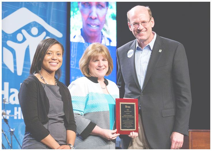 Habitat for Humanity East Central Ohio received Clarence E. Jordan Award