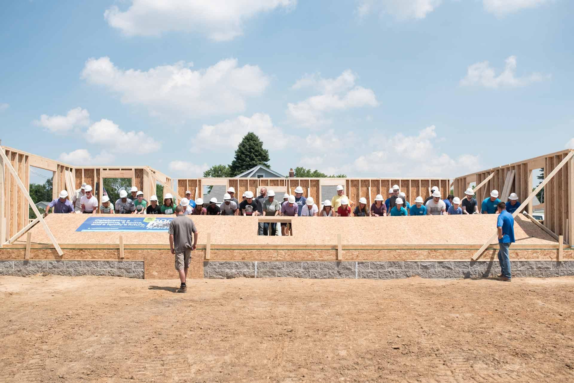 Habitat for Humanity Wall Raising